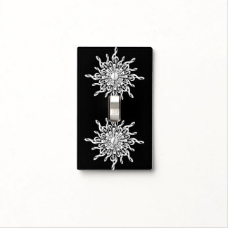 MELTPOINT WINTER Black White G-Clef Snowflake Light Switch Cover