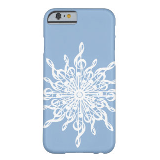 MELTPOINT WINTER Blue Monogram G-Clef Snowflake Barely There iPhone 6 Case