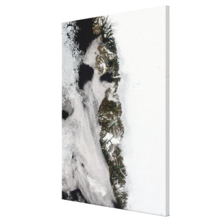 Meltwater ponds along Greenland West Coast Canvas Print