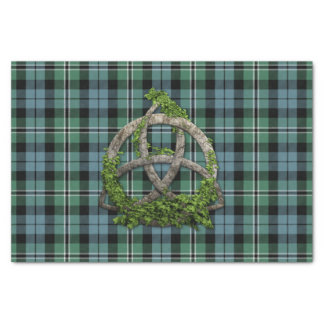 Melville Tartan And Celtic Trinity Knot Tissue Paper
