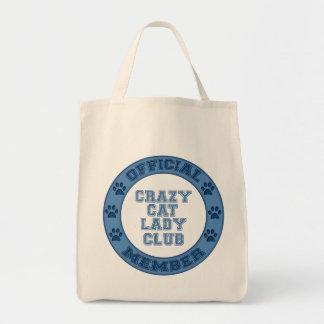 Member Crazy Cat Lady Club Logo Tote Bag