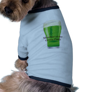 Member of the Green Party Beer St Patrick s Day Doggie T-shirt