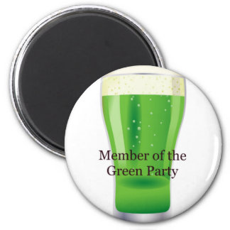 Member of the Green Party Beer St Patrick s Day Refrigerator Magnet