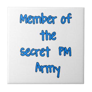 Member of the Secret PM Army Ceramic Tiles