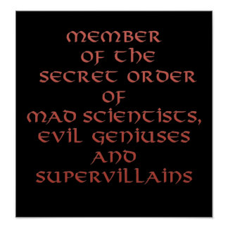 Membre des copies et des affiches secrètes d'ordre