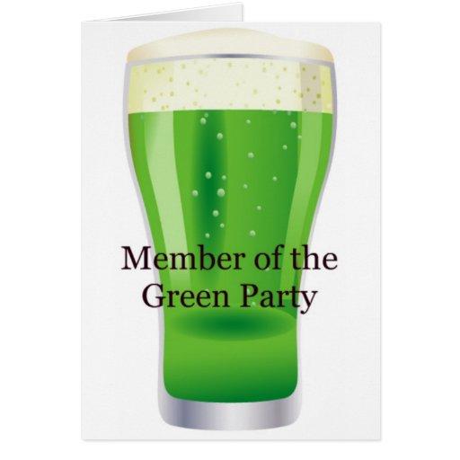 Membre du jour de St Patrick de bière de Parti Ver Cartes De Vœux