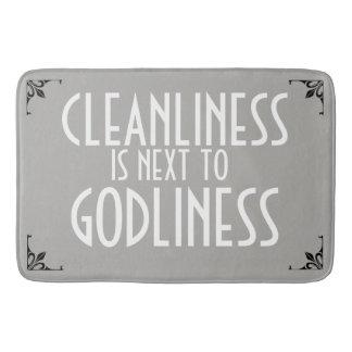 MEME Bath Mat Cleanliness next Godliness Vintage