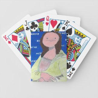 Meme Lisa Bicycle Playing Cards