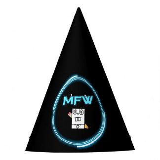 Memefull World logo party hat