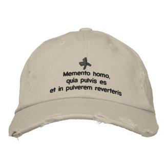 Memento Homo, lent cap - cappello quaresimale