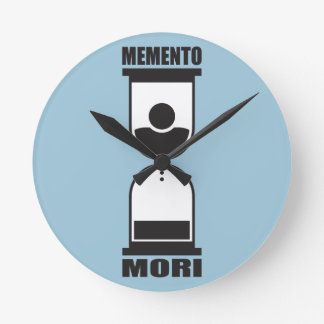 Memento Mori Round Clock