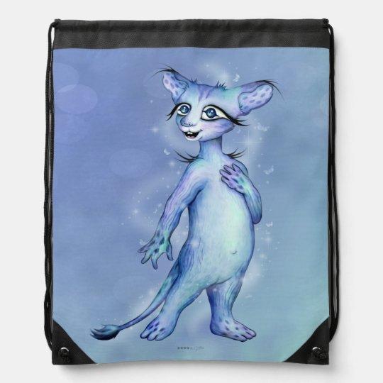 MEMO CUTE ALIEN CAT CARTOON Drawstring Backpack