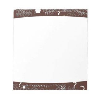 Memo Pad Brown Abstract Borders