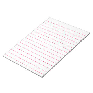 Memo Pad with Lines Business Lined Red Vintage