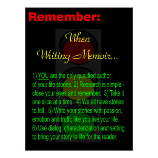 Memoir Writer - Poster - Motivation