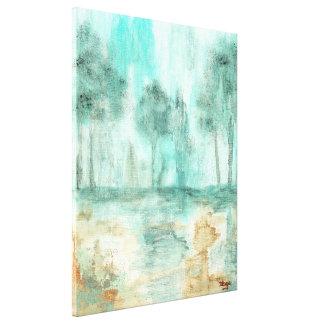 Mémoire, peinture abstraite d'art d'arbres de pays