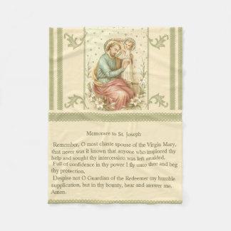 Memorare of St. Joseph Fleece Blanket