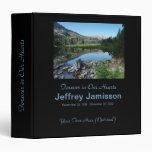 Memorial Book, Reflection in Lake 3 Ring Binders