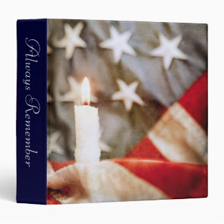 "Memorial Candle 1.5"" Photo Album Vinyl Binder"