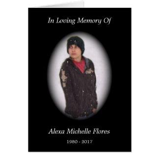 memorial card (black)