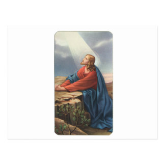 Memorial card depicting Jesus