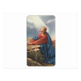Memorial card depicting Jesus Postcard
