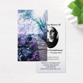 memorial card enchanted path