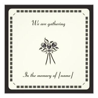 Memorial Card Invitation Custom Invites