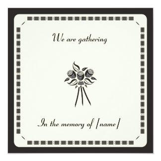 """Memorial Card Invitation 5.25"""" Square Invitation Card"""