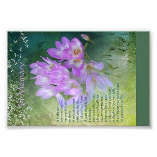 Memorial Card Photo Print