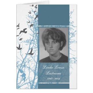 memorial card : silhouscreen birds