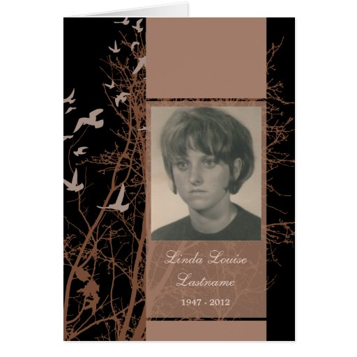 memorial cards : silhouscreen night