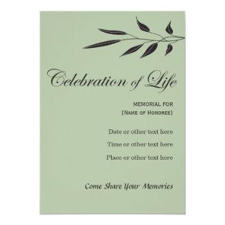 Memorial Celebration of Life Elegant Tree Branch Card