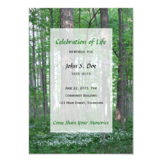 Memorial Celebration of Life Forest invitation