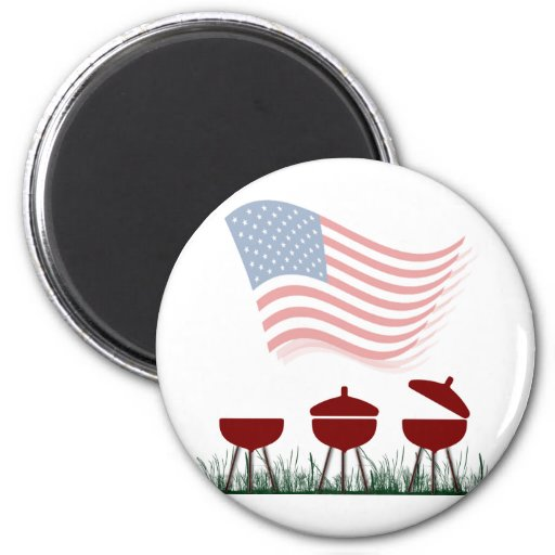 Memorial Day Barbeque Cookout Refrigerator Magnets