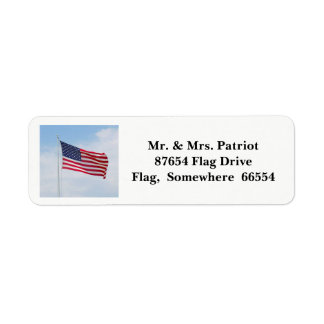 Memorial Day Flag label 2017 Return Address Label