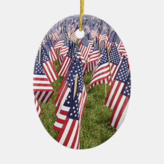Memorial Day Flags Ceramic Ornament