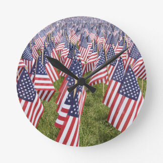 Memorial Day Flags Clock