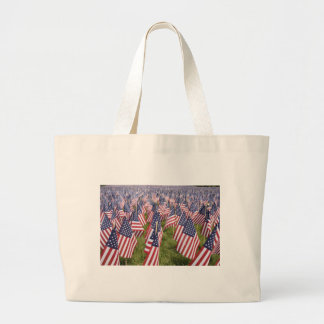 Memorial Day Flags Large Tote Bag
