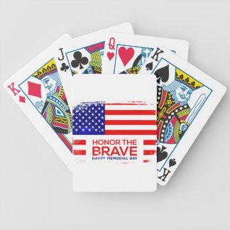 Memorial Day grunge Bicycle Playing Cards