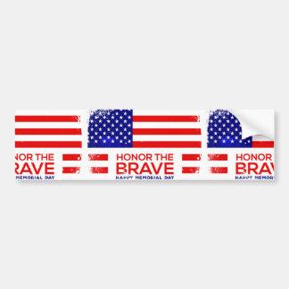 Memorial Day grunge Bumper Sticker