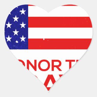 Memorial Day grunge Heart Sticker