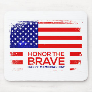 Memorial Day grunge Mouse Pad