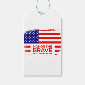 Memorial Day grunge Pack Of Gift Tags