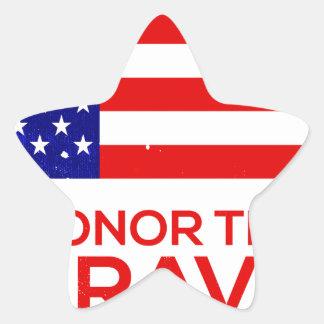Memorial Day grunge Star Sticker