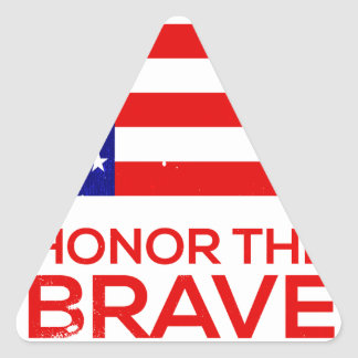Memorial Day grunge Triangle Sticker