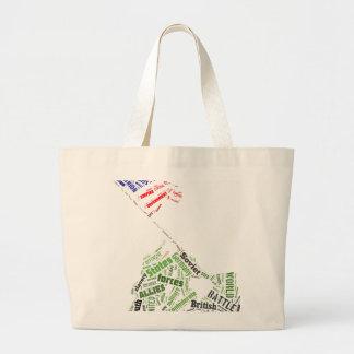 Memorial Day (Iwo Jima Flag Raising) in Tagxedo Large Tote Bag