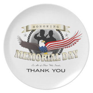 Memorial Day Party Plates