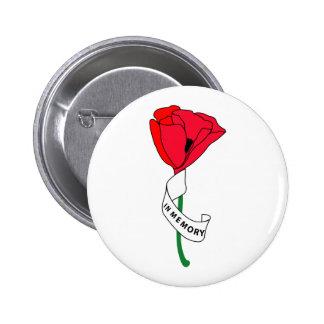 Memorial Day Poppy - Button