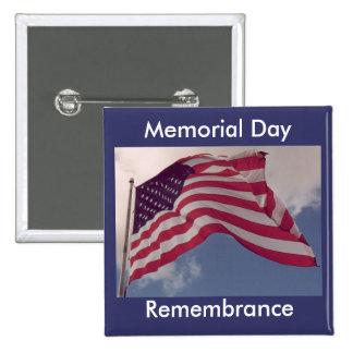 Memorial Day Remembrance 2 Inch Square Button